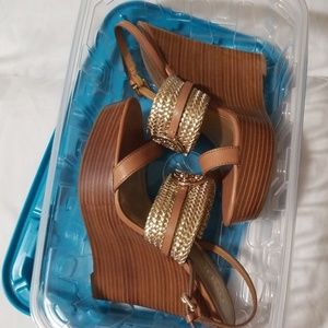 BEATRIZ wedge platform sandal- COACH NWOT